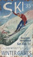 Vintage Winter Games Sign