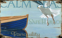 Vintage Calm Seas Sign