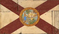 Vintage Florida Flag Sign