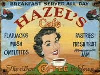 Vintage Hazels Café Sign