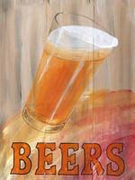 Vintage Beer Glass Sign