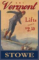 Vintage Ski Vermont Sign