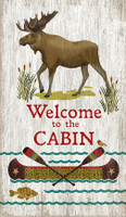 Vintage Welcome Cabin Sign