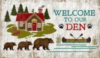 Vintage Welcome Den Sign