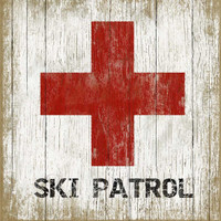 Vintage Ski Patrol #1 Sign