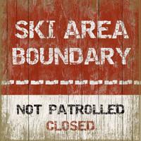 Vintage Ski Boundry #2 Sign