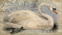 Vintage French Swan Sign