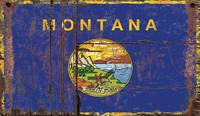 Vintage Montana Flag Sign