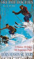 Vintage Hensons Ski Sign