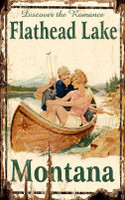 Vintage Flathead Lake Sign