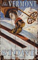 Vintage Ski Trek Sign