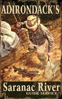 Vintage Adirondack Fishing Sign