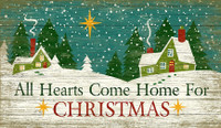 Vintage Christmas Heart Sign