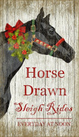 Vintage Christmas Horse Sign