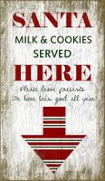 Vintage Christmas Milk and Cookies Sign