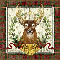 Vintage Woodland Christmas Stag Sign