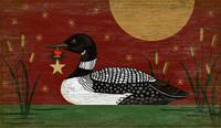 Vintage Christmas Loon Sign