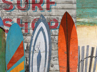 Vintage Beach Surfboards Sign