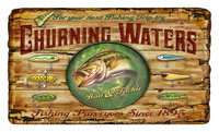 Vintage Churning Waters Sign