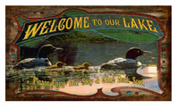 Vintage Welcome to Our Lake Sign
