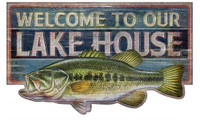 Vintage Bass Welcome Sign