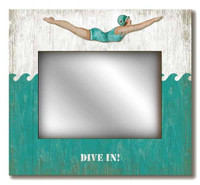 Vintage Retro Dive Girl Mirror