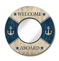 Vintage Welcome Aboard Mirror