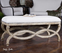 Uttermost Karline Natural Linen Bench