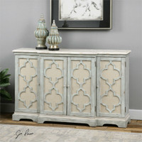 Uttermost Sophie 4 Door Grey Cabinet