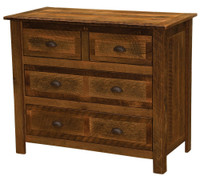 Barnwood Four Drawer Low Boy - Barnwood Legs