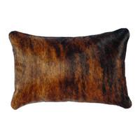 Dark Brindled Hide Pillow