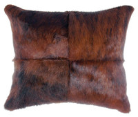 Four Sections Dark Brindled Hide Pillow
