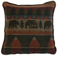 Cabin Bear 20x20 Pillow