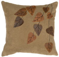 Thistle with Leather Leaf Pillow