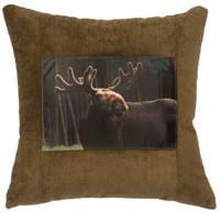 Blast Seagrass Moose Fabric Pillow