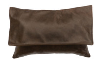 Timber Leather Pillow with flap