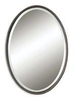Sherise Bronze Oval Mirror, Uttermost