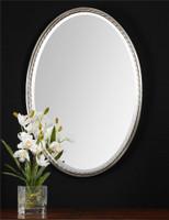 Uttermost Casalina Nickel Oval Mirror
