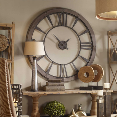 Uttermost Ronan Wall Clock Large Mybarnwoodframes Com