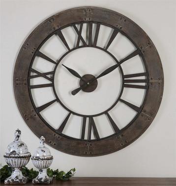 Uttermost Ronan Wall Clock Mybarnwoodframes Com