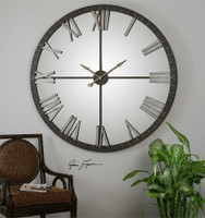 Uttermost Amelie Large Bronze Wall Clock
