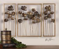 Uttermost Metal Tulips Wall Art Set/3