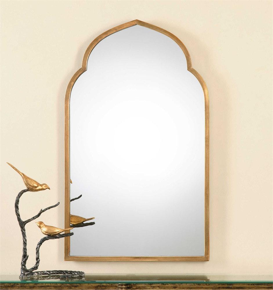 Uttermost Kenitra Gold Arch Mirror Mybarnwoodframes Com