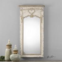 Uttermost Carlazzo Antiqued White Mirror