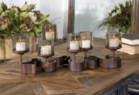 Uttermost Ribbon Metal Candleholders