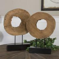 Uttermost Ashlea Wooden Sculptures S/2