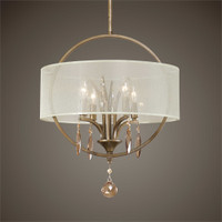 Uttermost Alenya 4 Light Fabric Drum Pendant
