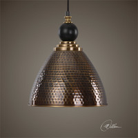 Uttermost Adastra 1 Light Antique Brass Pendant