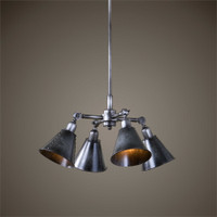 Uttermost Fumant 4 Light Industrial Pendant