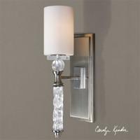 Uttermost Campania 1 Light Carved Glass Sconce
